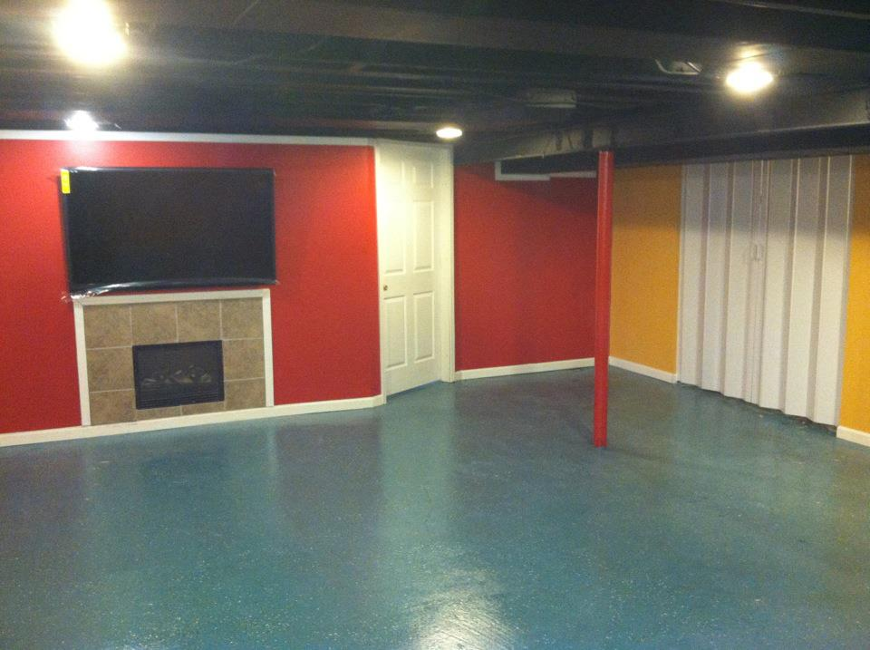 finished basement r y l l icon custom construction